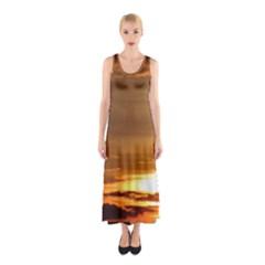Summer Sunset Sleeveless Maxi Dress