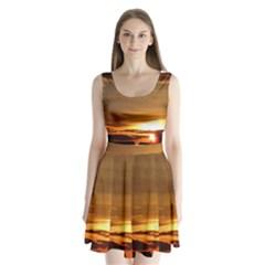 Summer Sunset Split Back Mini Dress