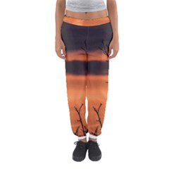 Tree branches and sunset Women s Jogger Sweatpants