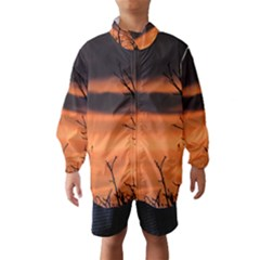 Tree branches and sunset Wind Breaker (Kids)