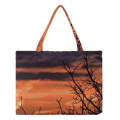 Tree Branches And Sunset Medium Tote Bag