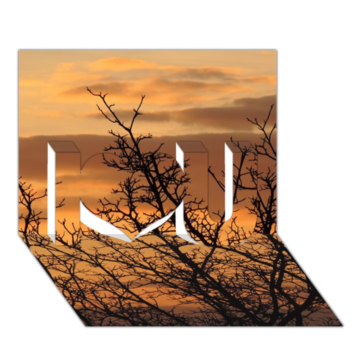 Colorful Sunset I Love You 3D Greeting Card (7x5)