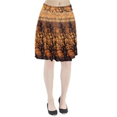 Colorful Sunset Pleated Skirt
