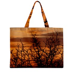Colorful Sunset Medium Zipper Tote Bag