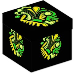 Yellow and green spot Storage Stool 12