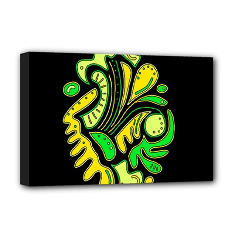 Yellow and green spot Deluxe Canvas 18  x 12