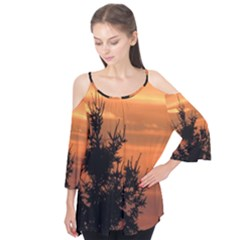 Christmas Tree And Sunset Flutter Tees
