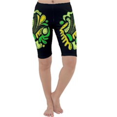 Yellow and green spot Cropped Leggings