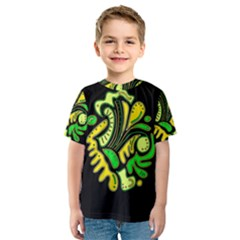 Yellow and green spot Kids  Sport Mesh Tee