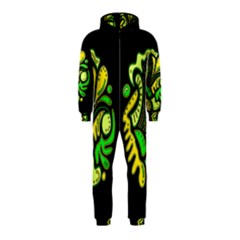 Yellow and green spot Hooded Jumpsuit (Kids)