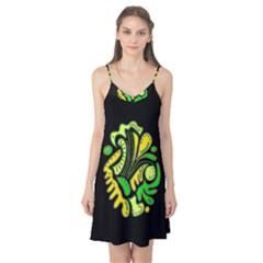 Yellow and green spot Camis Nightgown