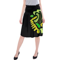 Yellow and green spot Midi Beach Skirt