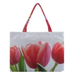 Red Tulips Medium Tote Bag