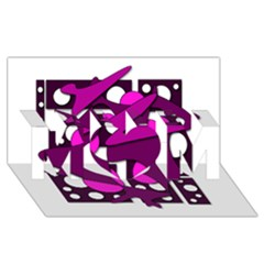 Something purple MOM 3D Greeting Card (8x4)