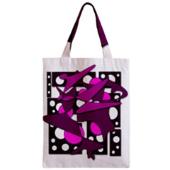 Something purple Zipper Classic Tote Bag