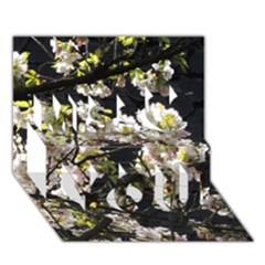 Blooming Japanese cherry flowers Miss You 3D Greeting Card (7x5)