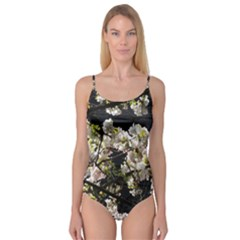 Blooming Japanese cherry flowers Camisole Leotard