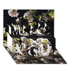 Japanese Cherry Flower Miss You 3d Greeting Card (7x5)
