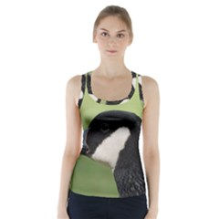 Goose bird in nature Racer Back Sports Top