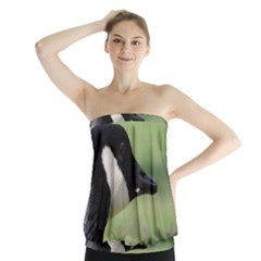 Goose, black and white Strapless Top