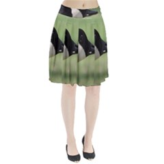 Goose, black and white Pleated Skirt