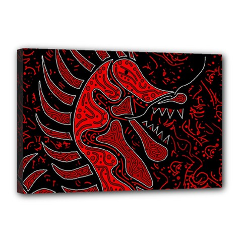 Red dragon Canvas 18  x 12
