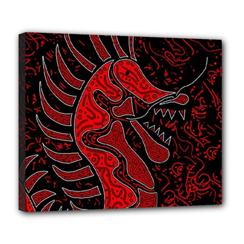 Red dragon Deluxe Canvas 24  x 20