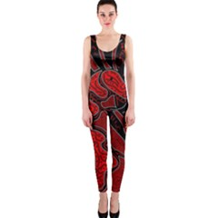 Red dragon OnePiece Catsuit
