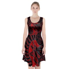 Red Dragon Racerback Midi Dress