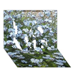 Blue Forget Me Not Flowers Love 3d Greeting Card (7x5)