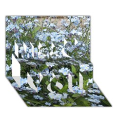 Blue Forget-me-not flowers Miss You 3D Greeting Card (7x5)