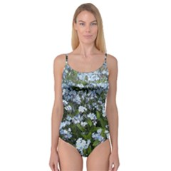 Blue Forget Me Not Flowers Camisole Leotard