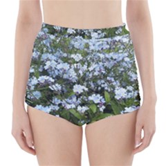 Blue Forget-me-not flowers High-Waisted Bikini Bottoms