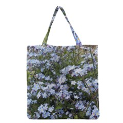 Little Blue Forget-me-not flowers Grocery Tote Bag
