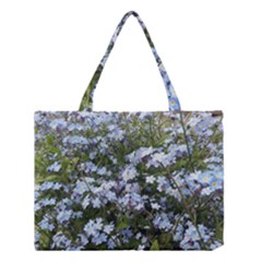 Little Blue Forget-me-not flowers Medium Tote Bag