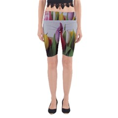 Colorful Bouquet Tulips Yoga Cropped Leggings