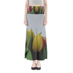 Colorful Bouquet Tulips Maxi Skirts