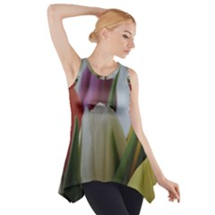 Colored by Tulips Side Drop Tank Tunic