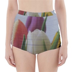 Colored by Tulips High-Waisted Bikini Bottoms