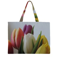 Colored by Tulips Large Tote Bag