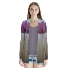Colored By Tulips Drape Collar Cardigan