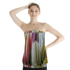 Colored by Tulips Strapless Top