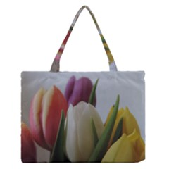 Colored by Tulips Medium Zipper Tote Bag