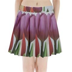 Tulip spring flowers Pleated Mini Skirt