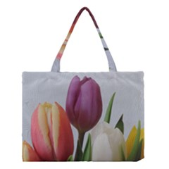 Tulip spring flowers Medium Tote Bag