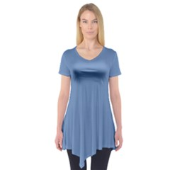 Blue Color Short Sleeve Tunic
