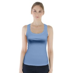 Blue color Racer Back Sports Top