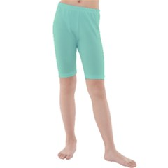 Mint color Kids  Mid Length Swim Shorts