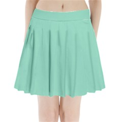 Mint Color Pleated Mini Skirt