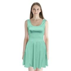 Mint color Split Back Mini Dress